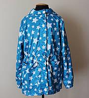 Детская ветровка на девочку от 5-10 лет голубого цвета, фото 1