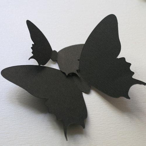 3d наклейки Набор картонных 3Д бабочек Махаон