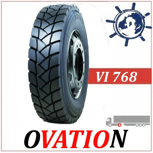 Ovation VI768 ведуча шина 12R22.5 152/149M (315/80R22.5), карьерная шина для ведущей оси самосвала 20PR