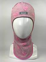 Детская весенняя шапка-шлем для девочки 1711-2