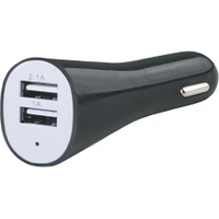 Адаптер живлення USB, 12V/24V DC 2*5V/2100/1000mA AUTO WELLE AW06-13B чорний