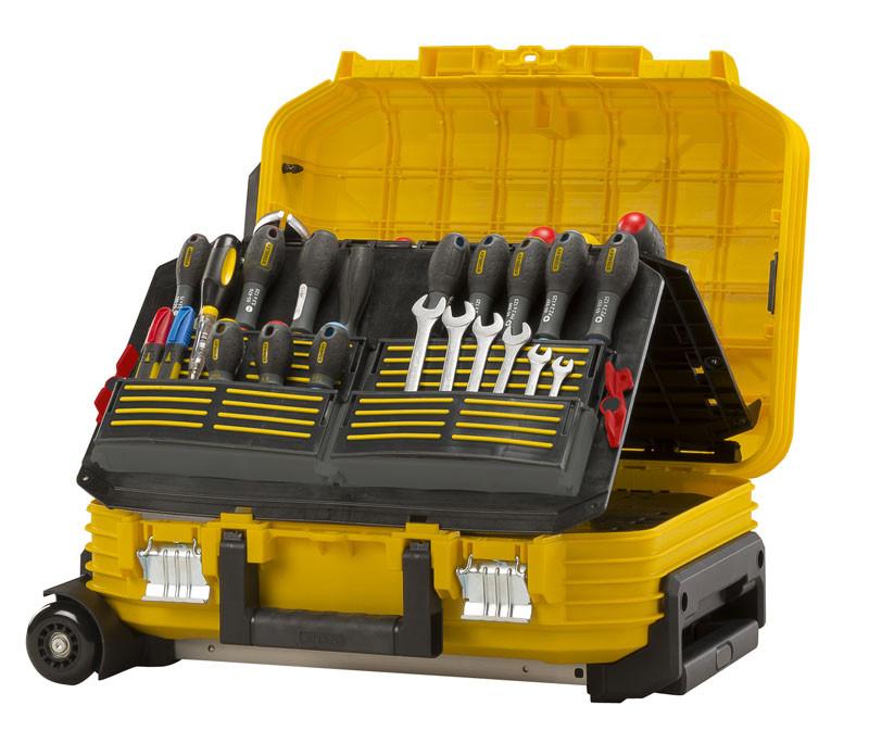 """Ящик инструментальный с колесами """"Stanley"""" чемодан мастера  54 x 40 x 43,5см"""