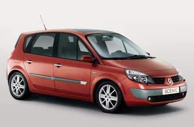 Лобовое стекло Renault Scenic 2 с местом под датчик (2003-2009)