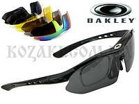 Очки тактические Oakley Black, 5 линз