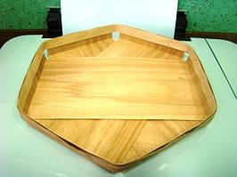 Еко упаковка из дерева (шпона) тарелки для овощей и фруктов 215*215*25мм