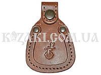 Накладка на обувь для ружья коричневая (кожа)