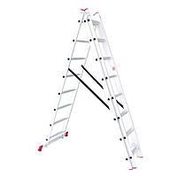 Лестница алюминиевая 3-х секционная универсальная раскладная INTERTOOL LT-0308, фото 1