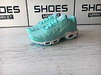 """Кроссовки Nike Air Max TN Plus """"Satin Green"""" . Стильные кроссовки найк. Качественные кроссовки."""