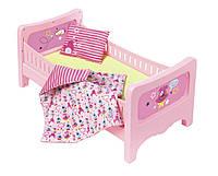Кроватка для куклы BABY BORN СЛАДКИЕ СНЫ с постельным набором (824399)