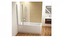 Шторка для ванны RAVAK CVS2-100 L белый+Transparent, фото 1
