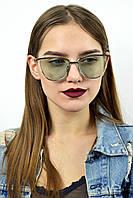 Имиджевые очки в серебряной оправе бирюзовый