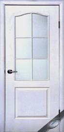 Двери межкомнатные Классик стекло сатин структура