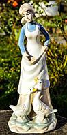 Коллекционная скульптура,очаровательная Дама с гусями! Germany!, фото 1