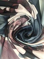 Палантин женский кашемировый  с абстрактным рисунком