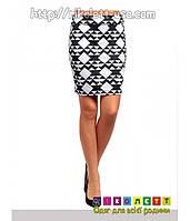Юбка Женская 2B Clothing Черно-Белая