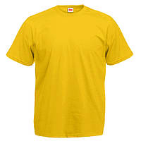 Уплотненная желтая мужская футболка (Премиум)