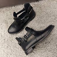 Ботинки женские,натуральная кожа,черные
