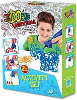 Набор для детского творчества с 3D-маркерами Зоопарк IDo3D 155249