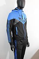 Adidas мужской брендовый спортивный костюм эластин , фото 1