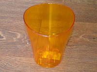 """Вазон для орхидей """"Ника"""" оранжевый 13х15,5см."""