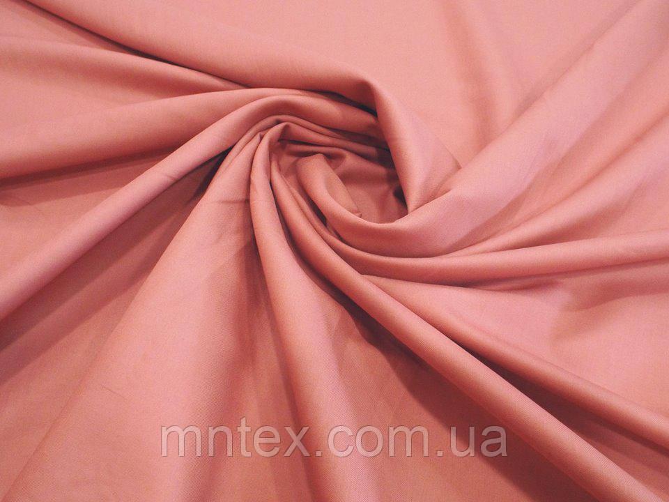 Ткань для пошива постельного белья сатин гладкокрашеный Лосось