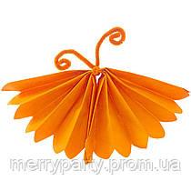 """Бумажный декор """"Бабочка"""" из тишью 25 см оранжевая"""