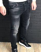 Джинсы мужские Philipp Plein D2873 черные, фото 1