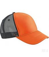 Молодежная кепка-тракер оранжевого цвета с пластиковой застежкой