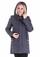 Демисезонное Шерстяное Пальто Грейс 48 Джинс