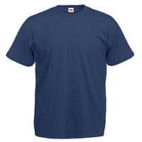 Уплотненная темно-синяя мужская футболка (Премиум)