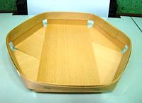 Еко упаковка из дерева (шпона) тарелки для овощей и фруктов 165*165*25мм, фото 1