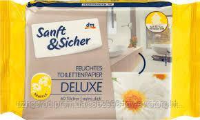 Влажные туалетные салфетки Sanft&Sicher feuchtes toilettenpapier kamile 60 шт