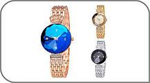 ТОПОВЫЕ!! Женские часы Baosaili (баосали) в ФИРМЕННОЙ коробке, золото с синим, фото 3
