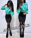Женский костюм: блуза и юбка-карандаш (в расцветках), фото 4