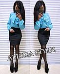 Женский костюм: блуза и юбка-карандаш (в расцветках), фото 9