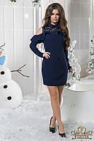 Женское нежное платье-футляр с воланами батал Код:625250734