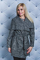 Пальто женское короткое меланж