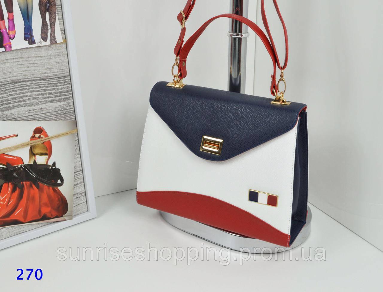 Яркая вместительная сумка в стиле Tommy Hilfiger сине-белого цвета -  Sunrise в Одессе 3fda3e518d0