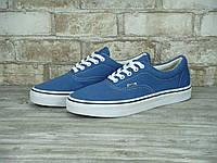 Мужские кеды Vans (голубые), ТОП-реплика, фото 1