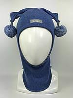 Весенняя шапка-шлем для мальчика Арлекин 1707-14