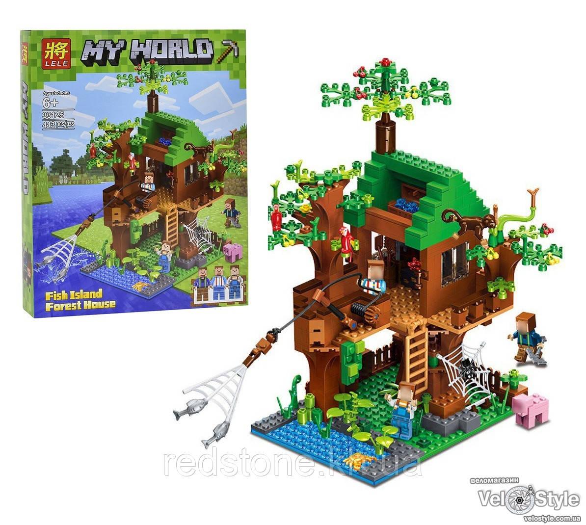 """Конструктор Lele 33125 Майнкрафт ( Lego Minecraft) """"Дом у реки"""", 443 дет"""