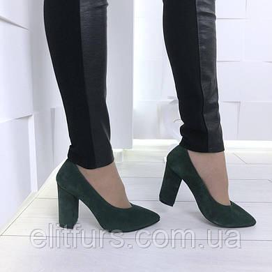 Туфли нат. замш