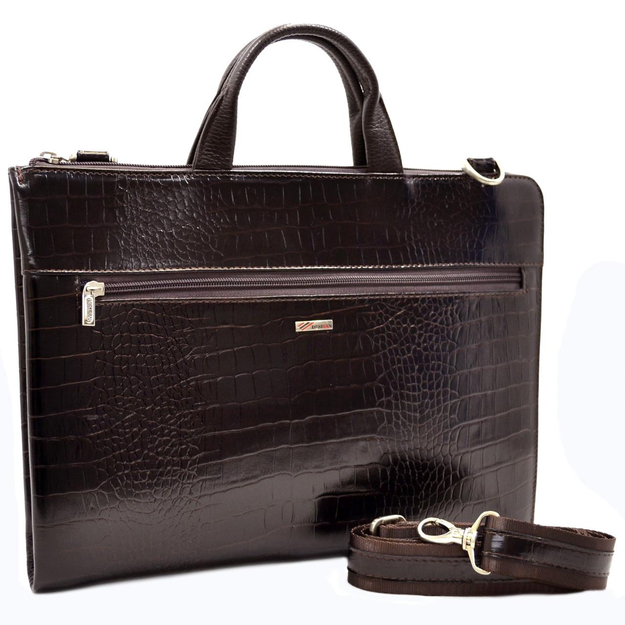 Шкіряна чоловіча ділова сумка Desisan