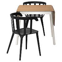 IKEA IKEAPS2012/IKEAPS2012 Стол и 2 стула, бамбук, черный  (299.320.63)