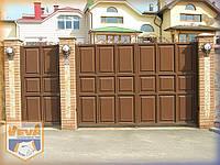 Распашные въездные филёнчатые ворота Харьков Полтава Сумы Луганск