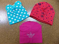 Трикотажная шапка на девочку 3-6 лет (цена за упаковку)
