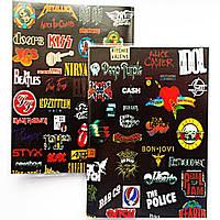 """Обложка ПВХ на паспорт """"Логотипы рок групп-2"""""""