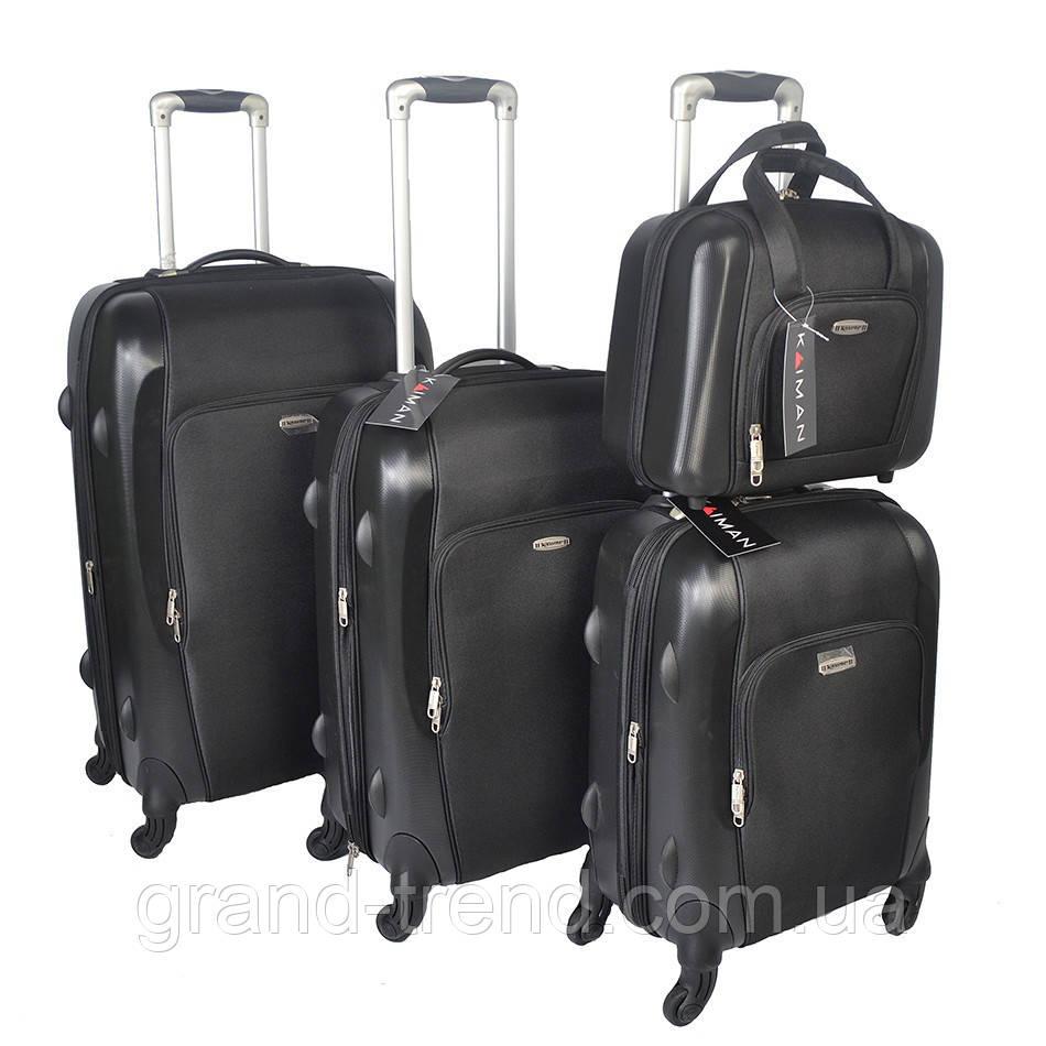 Комплект дорожных чемоданов из пластика на 4 колесах 3шт и косметичка - интернет  магазин GRAND- 1d209f9a2d7