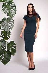 Платье Аделина 0309_3 Тёмно-зелёное