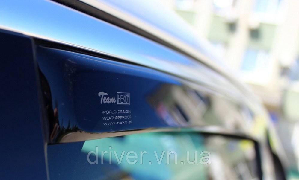 Дефлектори вікон Heko VW Amarok 2009-> 4D / вставні, 4шт/
